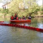Barrage Barracuda anti-pollution port rivière - 2