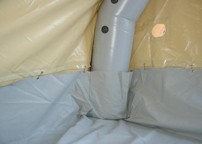 Tente gonflable de décontamination