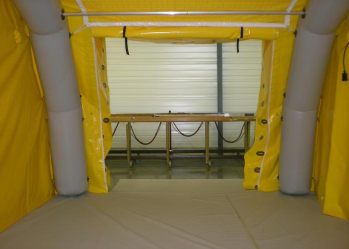 Porte latérale pour tentes gonflables